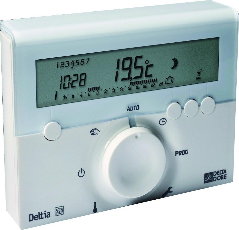 Delta Dore Programmateur filaire pour chaudière, pompe à chaleur ou radiateurs électriques Deltia 8.00 - Programmation chauffage - 6050416