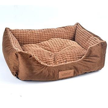 weare Casa Rectángulo Mascotas Cama Perro y Gato con impermeable reversible Casa felpa Nido acogedor en alfombra lavable, disponible en ambos lados: ...