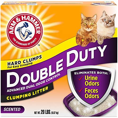 Arm & Hammer Double Duty Clumping Litter, 20lb (Granular Cat Litter)