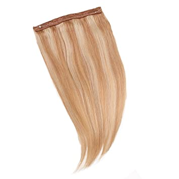 Amazon 16 straight invisible wire headband human hair 16quot straight invisible wire headband human hair extensions 90g 18613 blonde mix pmusecretfo Images