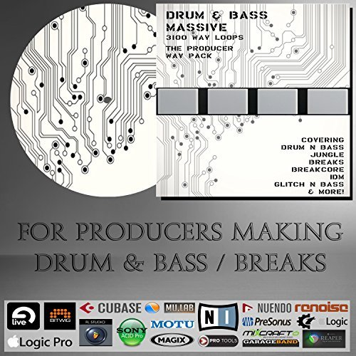 [Drum 'n Bass Massive - (WAV Pack) (3100 LOOPS) - For producers using WAV files in Ableton Live, Cubase, Logic, Pro tools, Fl Studio, Studio One, Bitwig] (Drum Software)