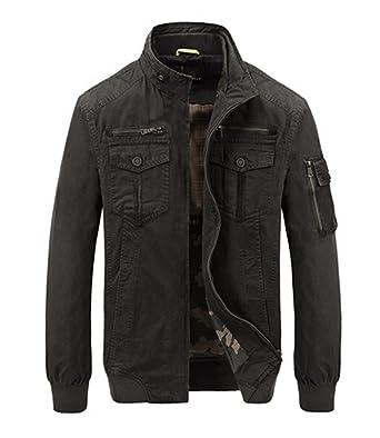 ParkGorman New Hot men outwear army jacket men zipper multi-pockets stand collar brand US