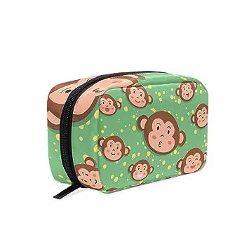 7d0219a672bd Makeup Bag Portable Travel Cosmetic Bags Monkey ... - Amazon.com