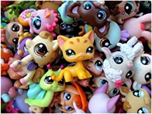 Littlest Pet Shop LPS 10 PC Lot Random Surprise Grab Bag 5 Pets & 5 Accessories MINIFIGURE