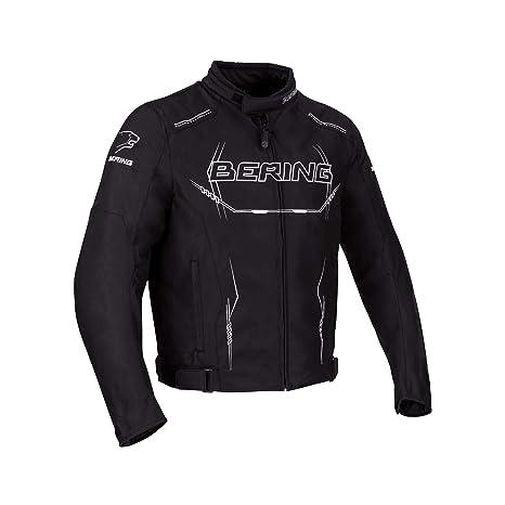 Bering chaqueta moto hombre forcio, Negro y Blanco, talla M ...