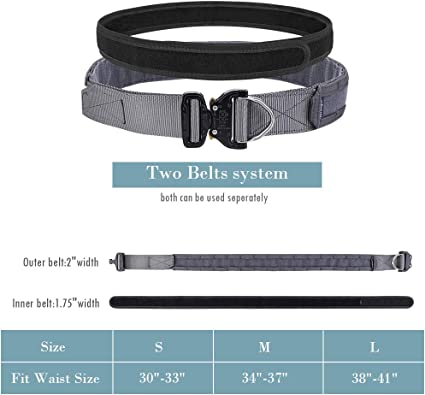 "Emerson Tactical Belt 1.75/"" /&2/"" Inner/&Outer Rigger Combat Patrol Heavy Duty Belt"