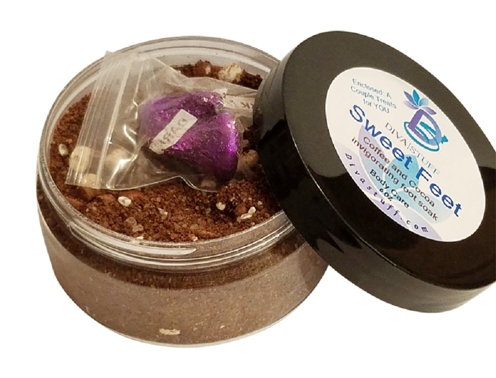 Sweet Feet Coffee and Cocoa Invigorating Foot Soak For Circulation and Swollen Feet , By Diva Stuff