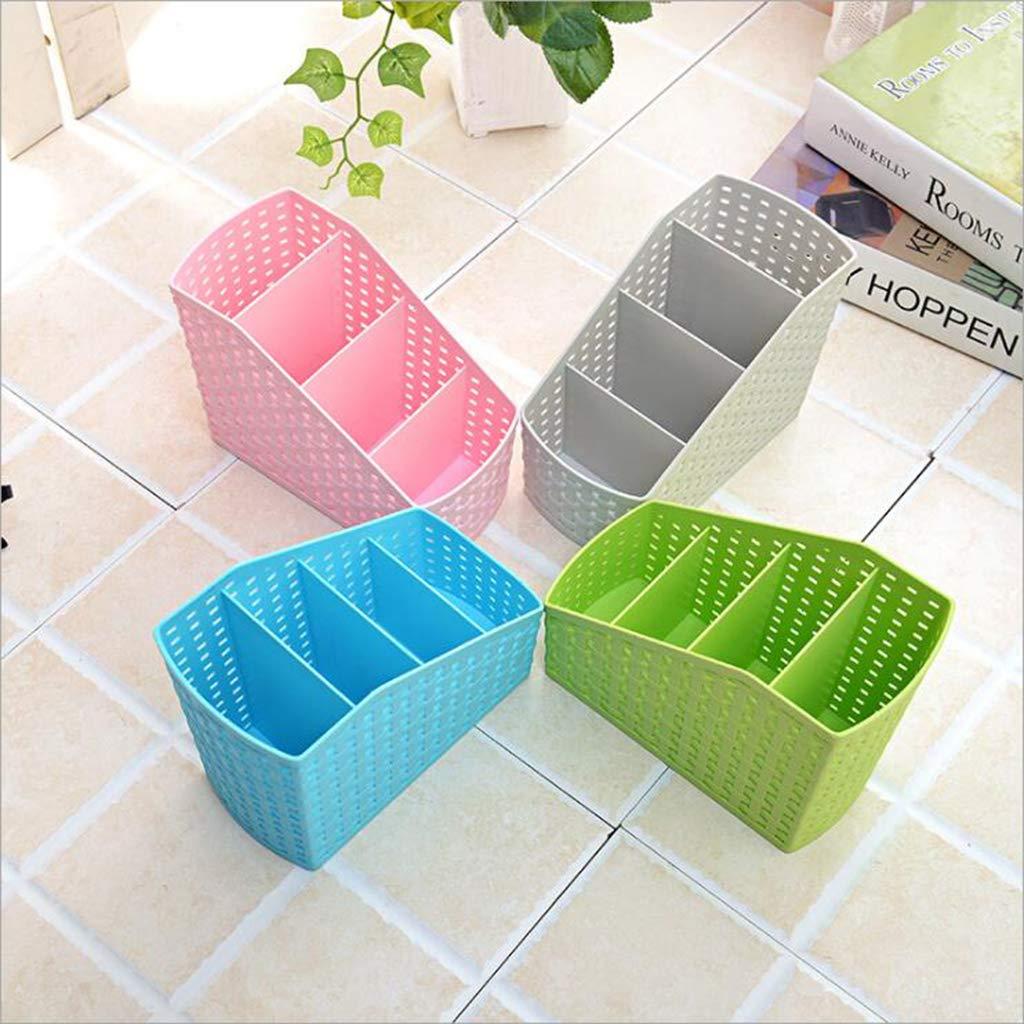 Baoblaze Plastic Makeup Office Holder Kitchen Desktop Storage Organizer Basket 14.5X9.3X12.5cm Blue