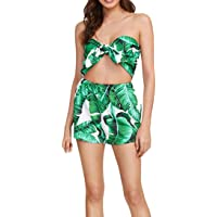 094697c6f388 Sunward Two Pieces Outfits Women Bohemian Crop Top Shorts Set Floral Print Rompers  Jumpsuits
