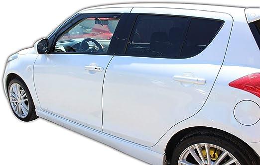 J J Automotive Windabweiser Regenabweiser Für Suzuki Swift 5 Türer 2010 2017 2tlg Heko Dunkel Auto