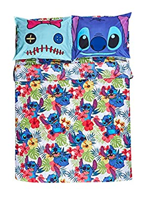 Disney Lilo & Stitch Hibiscus Full Sheet Set