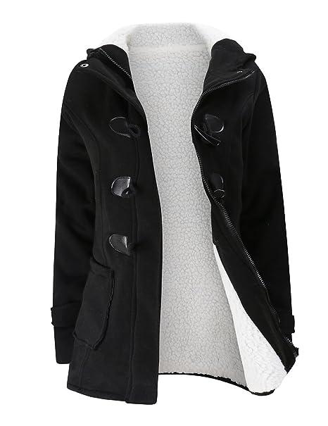 Abrigo caliente para las mujeres con estilo engrosaron, abrigo con paño grueso y suave alineó la capa con capucha, ropa remata del invierno: Amazon.es: Ropa ...