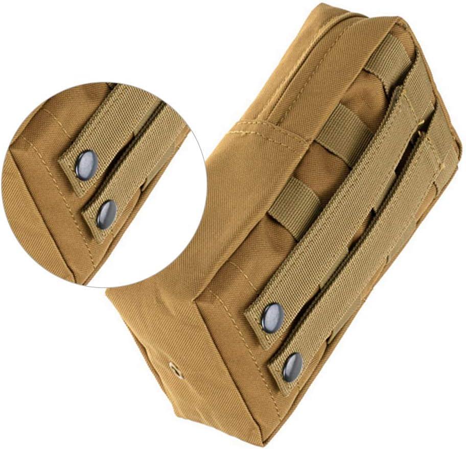 /Él/égant Multifonction Sac en Nylon imperm/éable Mini Tactical Sac en Nylon l/éger Militaire T/él/éphone Sac de Rangement M/êle Pocket Veste Tactique Accessoire pour Attachment Black Activit/és de Plein air