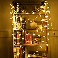 Deajing Cadena de Luce Luces Decorativas Luces Led 2M 10LEDs, Guirnalda de Luces LED, Luces para Exterior Luces de Cadena para Patio, Balcón, Casa, Arbol de Navidad, Jardín