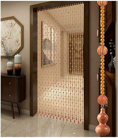 GuoWei-Cortinas de Cuentas Cristal y Madera Perlas Colgando Cuerdas Panel Tabique Decoración Puerta Salón, Personalizable (Size : 35 strands-100x176cm): Amazon.es: Hogar