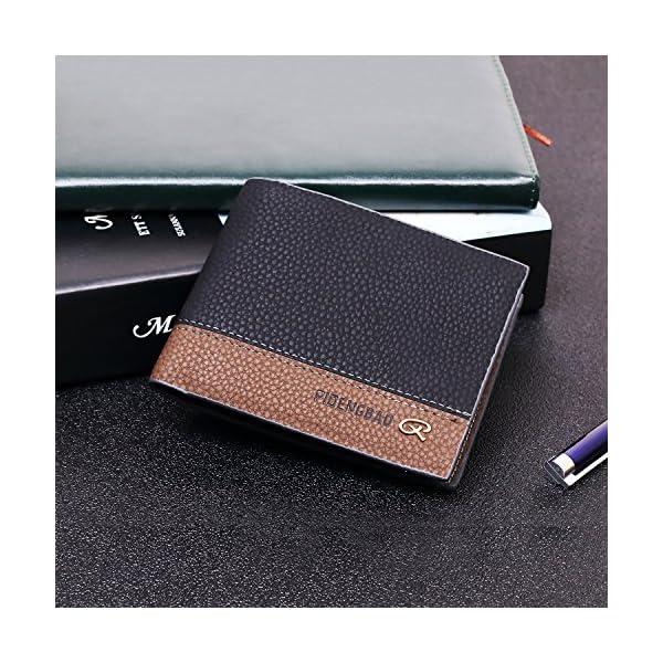 Men's wallet - Ultra-thin wallets double folded RFID blocked fashion wallets