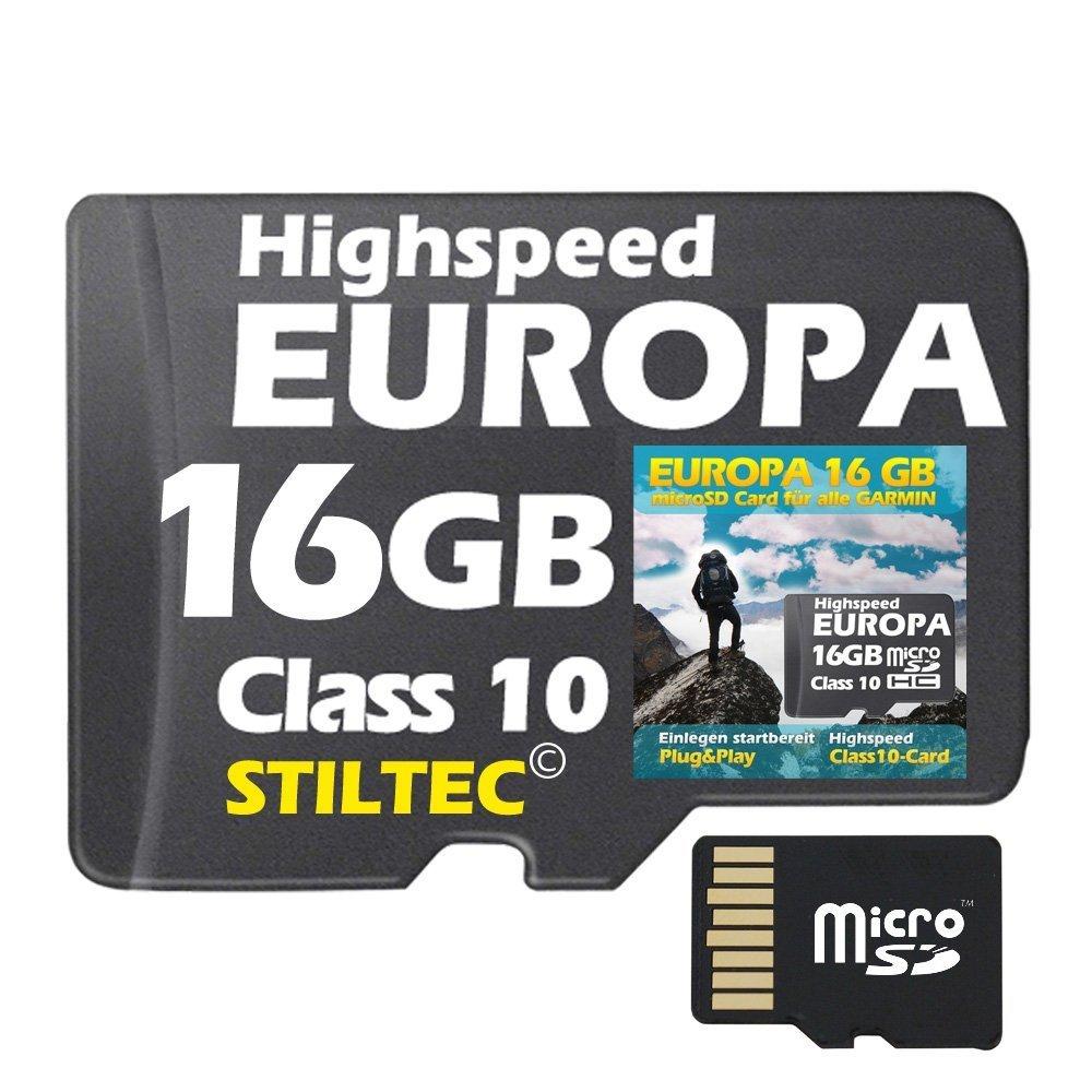16 GB Europa Topo + Höhenlinien + Routenplanung + für Garmin DAKOTA 20