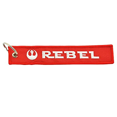 """Apex Imports Rebel Alliance Remove Before Flight Style Key Chain 5.5"""" x 1"""" Motorcycle ATV Car Truck Keychain: Automotive"""