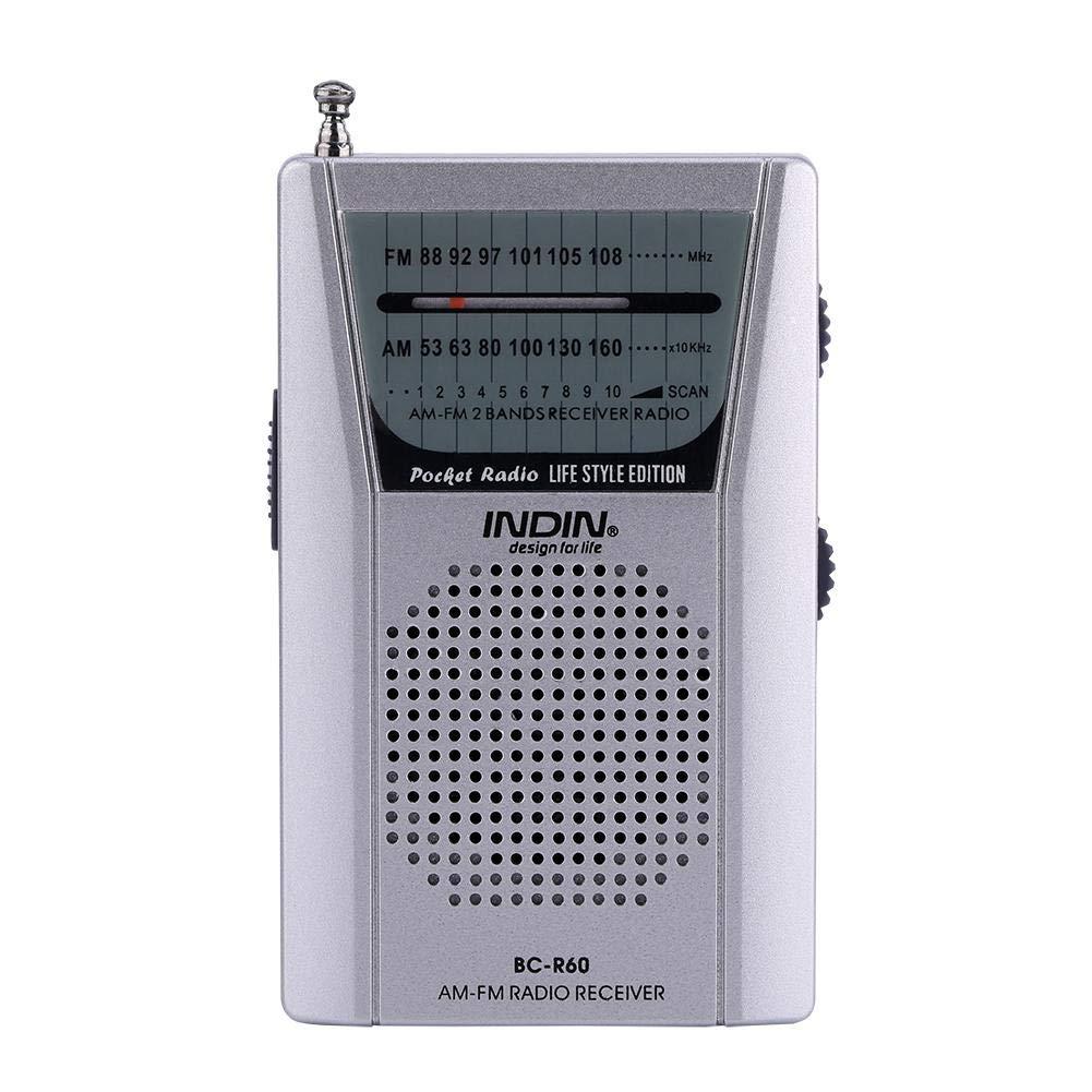 Zerone Universal Mini Radio Portable Récepteur FM/AM World Monde intégré Haut-Parleur Universel FM 88-108 AM Lecteur Audio 530-1600 KHz avec antenne télescopique