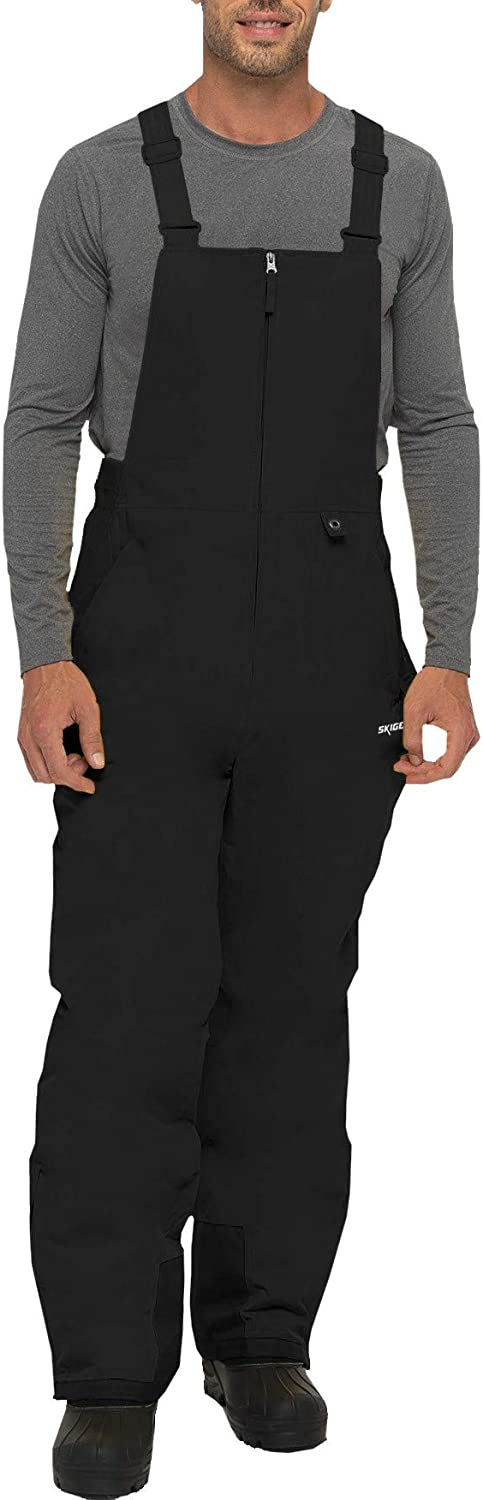 SkiGear Men's Essential Insulated Bib Overalls : Clothing