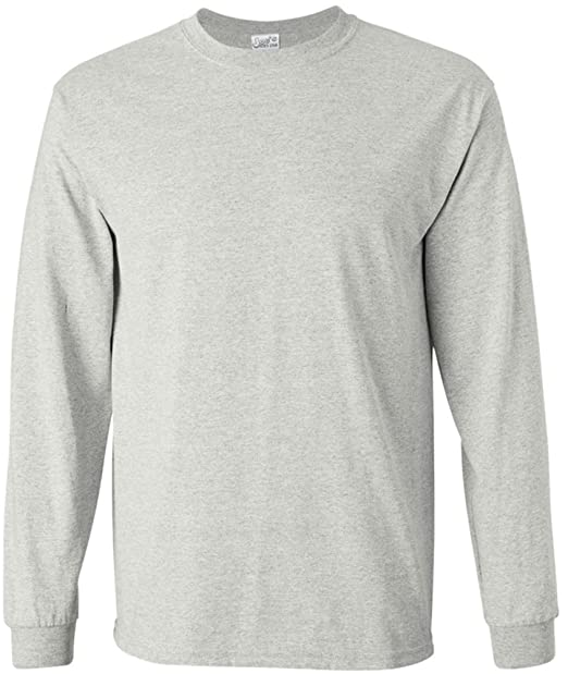 Joe s USA Men s Long Sleeve Heavy Cotton Crew Neck T-Shirts in 27 ... 2fe64fa4d69