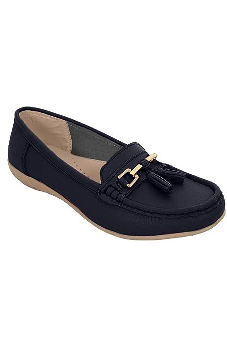 Sapphire TIENDA Mujer Sin Cordones Cuero Cómodo Mocasines Plano Con Borlas Tacón Bajo Mocasín: Amazon.es: Zapatos y complementos