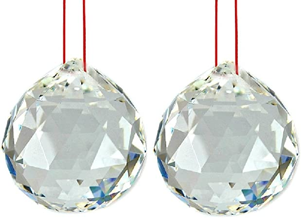 Toowood K9 Crystal Ball Drop Prisms Optical Glass Triangular Prism Pyramid for Photography Decoration Birthday Gift Teaching Prism Ball Pendant 2//50mm 2 Pack