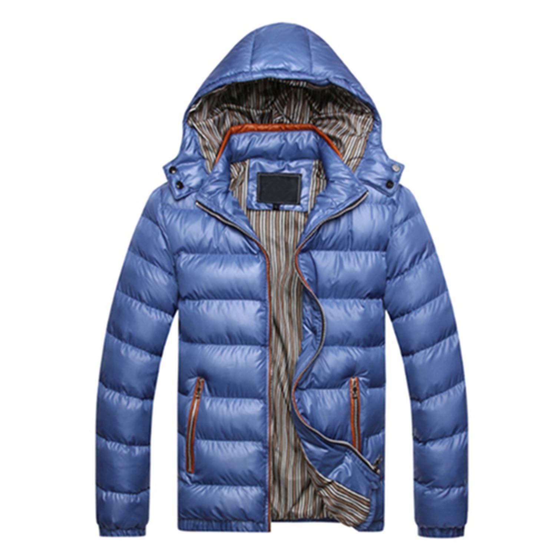 Parka Men Winter Jacket Men Coat Slim Casual Cotton Padded Hooded Hombre Parka Mens Coats Jackets