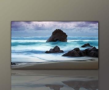 BERGER DESIGNS - Wandbild xxl günstig (Stone_Beach-60x110cm ...