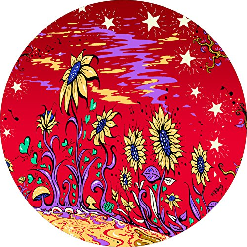 Sunflower field RED Spare Tire Cover for 225/75R15 Jeep RV Camper & More(Select popular sizes in drop down menu or contact us-ALL SIZES AVAILABLE)