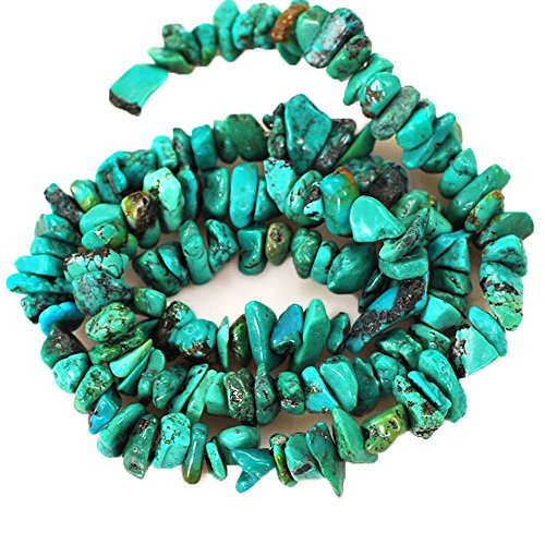01 Blue Hubei Turquoise Chips 6-10mm for Necklace Gemstone Loose Beads 15