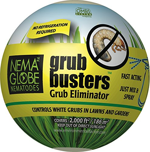 Grub Guard (20 Million Beneficial Nematodes (H.bacteriophora) - Nema Globe Grub Buster for Pest Control - New