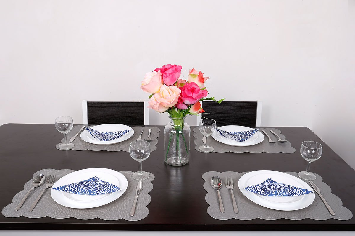 SICOHOME Leather Placemats,Grey Plastic Placemats Home,Set of 6 by SICOHOME (Image #2)