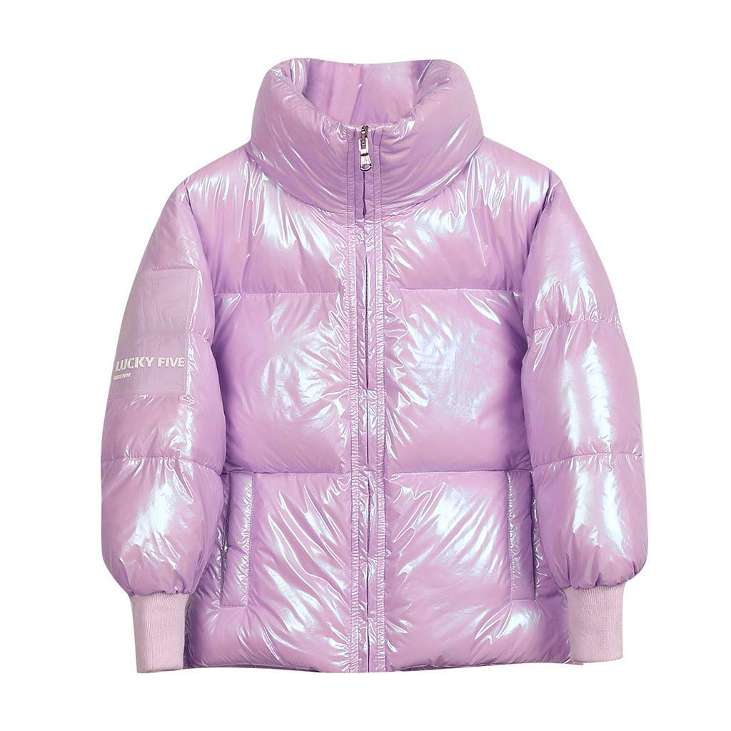 BFYOU Toddler Baby boy Winter Cartoon Windproof Ultra Light Down Jacket Coat Hooded Warm Jacket (2Years-8 Years) Pink by BFYOU_ Girl Clothing