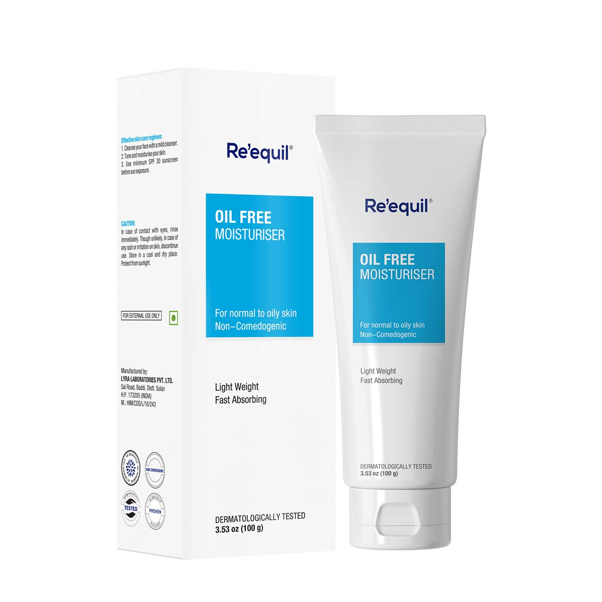 Re Equil Oil Free Moisturiser For Normal Oily Combination Skin 100g Amazon In Beauty