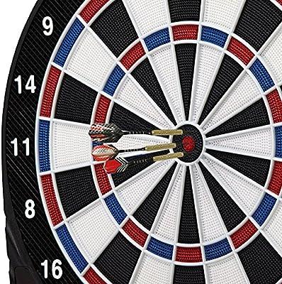 Dardos, Degbit Pack of 12 Juego de dardos Pástico con Puntas Blanda, Barrilles Acero de Latón, Aluminio Ejes y 4 aletas de estilo + 30 Plumas y 100 suave puntos, set de