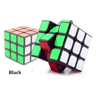 wings of wind cubo 3x3x3 velocità, ecologico plastica cubo magico sticker buon puzzle cubo (Nero)