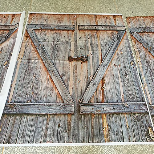 Rustic Barn Wood Door Shower Curtain Fabric Amp Hook