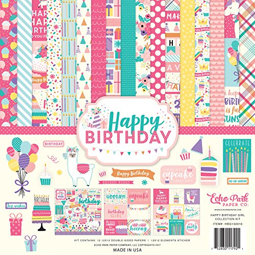 Happy Birthday Scrapbooking - Echo Park Paper Company Happy Birthday Girl Collection Kit