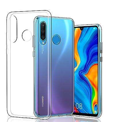 2427b79fa48 Funda para Huawei P30 Lite, Transparente Ultrafino TPU Parachoques Carcasa  Completa Protectora Funda para Huawei