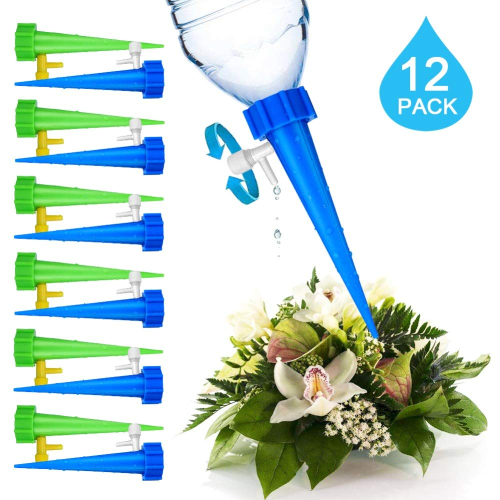 Majinz Store Automatic Watering Device Plant Self Watering Adjustable Stakes System 12Pcs//Set Vacation Plant Waterer Self Automatic Watering Spikes Irrigation System