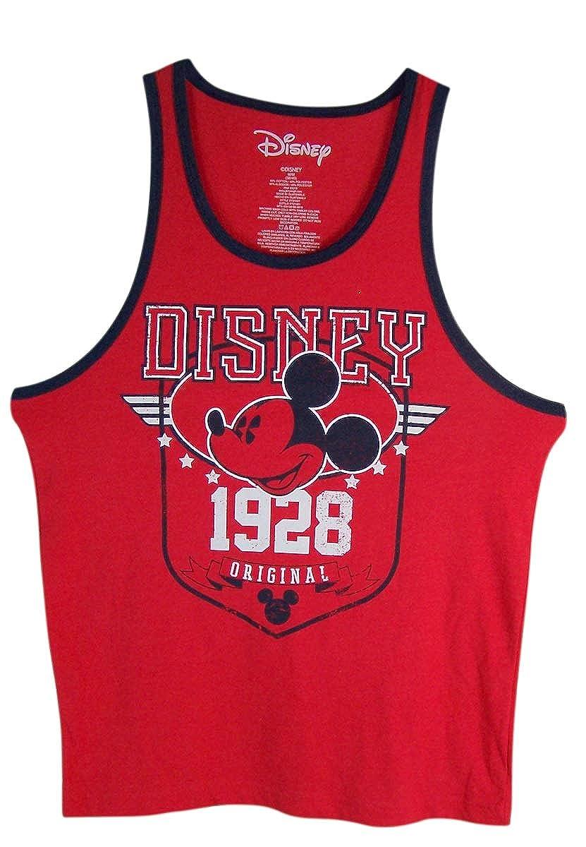 Disney Mens Red Original 1928 Mickey Mouse Tank Shirt