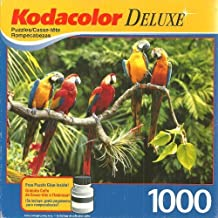 Kodacolor Deluxe Pretty Parrots 1000 Piece Jigsaw Puzzle with Glue by Mega Brands