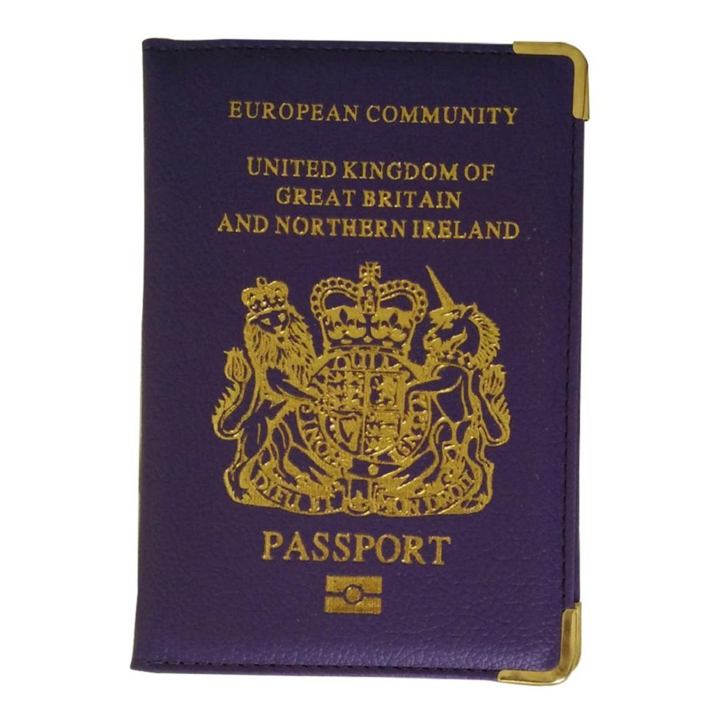 JYS New UK European Passport Holder PU Leather Protector Cover Wallet with Pockets