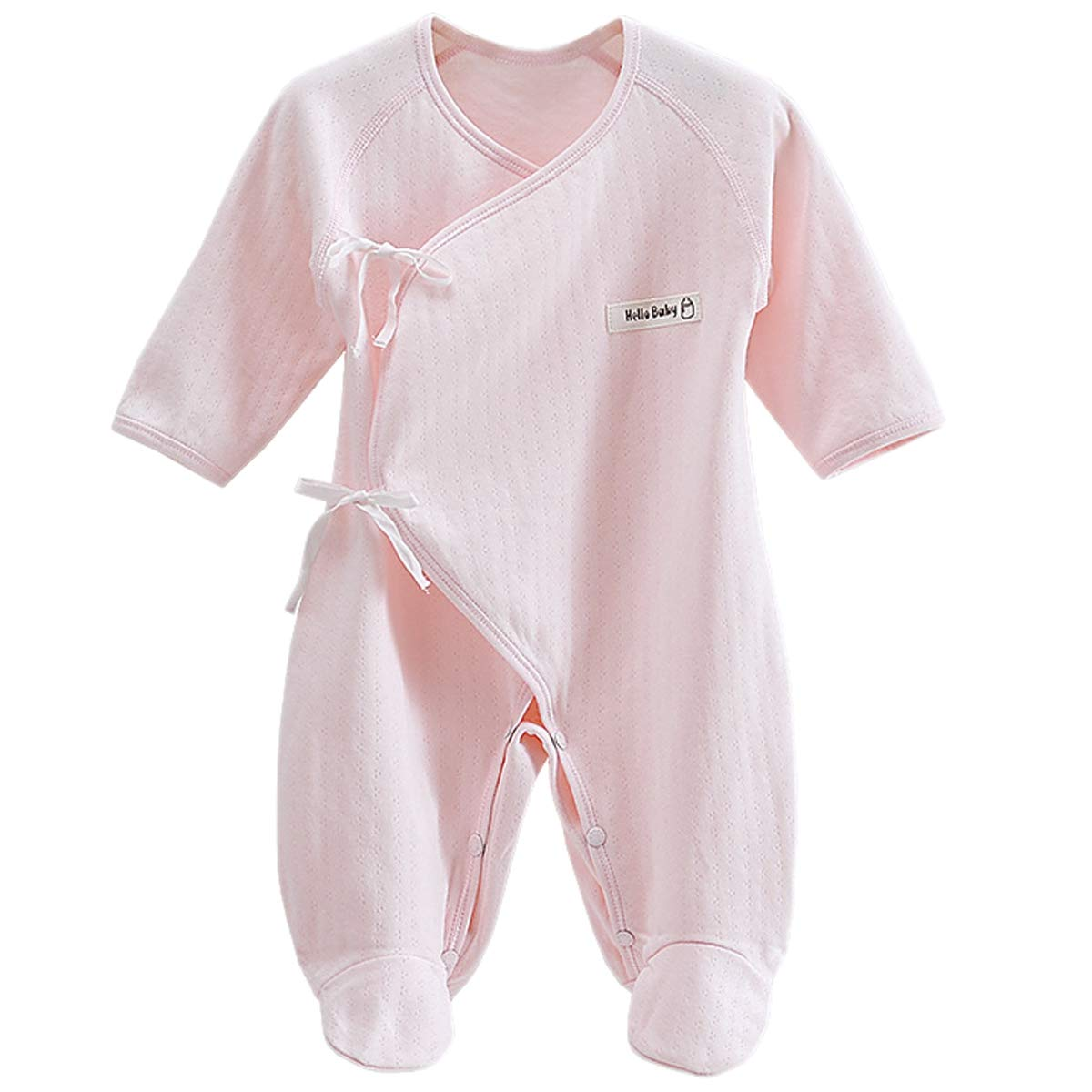 Happy Cherry Newborn Baby Cotton Thick Layette Footie Romper Small White
