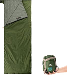 Naturehike Ultralight Sleeping Bag - Envelope Lightweight Portable, Waterproof, Comfort with Compression Sack - Great for 3 Season Traveling, Camping, Hiking
