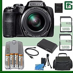 Fujifilm FinePix S9900W Digital Camera (Black) + 16GB Green's Camera Bundle 7