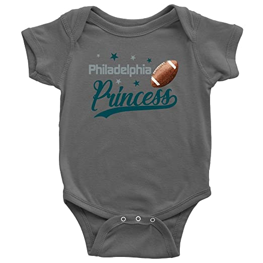 079aab1ab Image Unavailable. Image not available for. Color  Philadelphia Princess  Football and Stars Baby Girl Bodysuit Romper Jumpsuit Creeper One Piece  Outfit