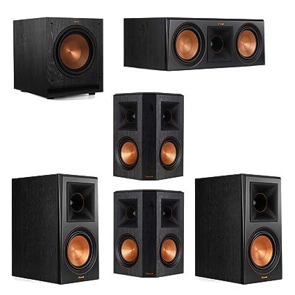 Klipsch 51 System With 2 RP 600M Bookshelf Speakers 1 600C
