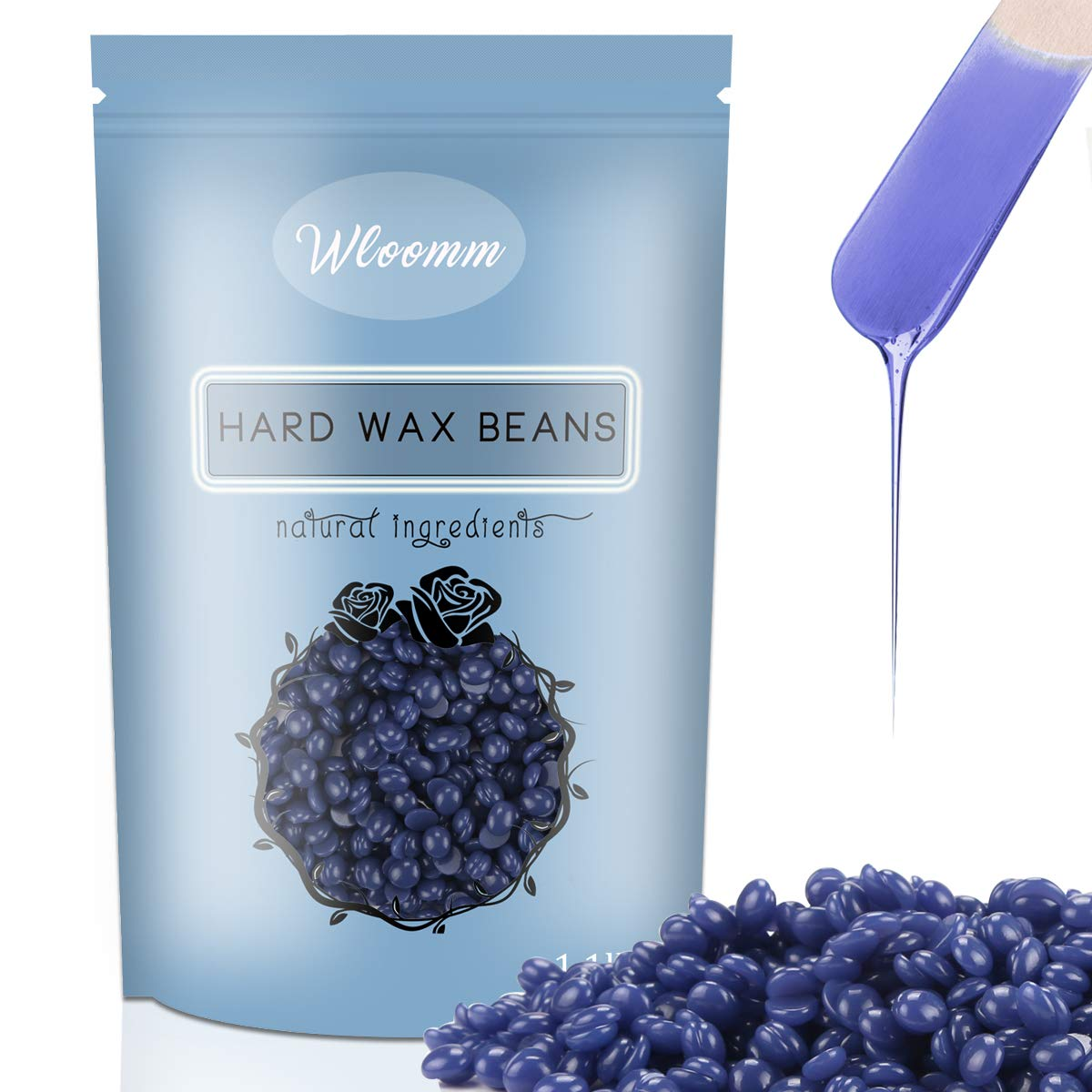 Wax Beans Wloomm Hard Wax Beans for Painless Hair Removal, Brazilian Bikini  Waxing Beads for